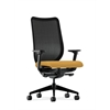 HON Nucleus Task Chair | Black ilira-Stretch Back | Synchro-Tilt, Seat Glide | Adjustable Arms | Mustard Fabric