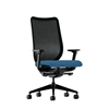 HON Nucleus Task Chair | Black ilira-Stretch Back | Synchro-Tilt, Seat Glide | Adjustable Arms | Regatta Fabric