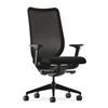 Nucleus Task Chair | Black ilira-Stretch Back | Synchro-Tilt, Seat Glide | Adjustable Arms | Black Fabric