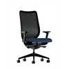 HON Nucleus Task Chair | Black ilira-Stretch Back | Synchro-Tilt, Seat Glide | Adjustable Arms | Ocean Fabric