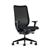 HON Nucleus Task Chair | Black ilira-Stretch Back | Synchro-Tilt, Seat Glide | Adjustable Arms | Navy Fabric