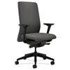 HON Nucleus Task Chair | Upholstered Back | Synchro-Tilt, Seat Glide | Adjustable Arms | Gray Fabric