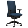 HON Nucleus Task Chair | Upholstered Back | Synchro-Tilt, Seat Glide | Adjustable Arms | Blue Fabric
