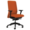 HON Nucleus Task Chair | Upholstered Back | Synchro-Tilt, Seat Glide | Adjustable Arms | Tangerine Fabric