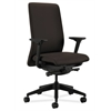 HON Nucleus Task Chair | Upholstered Back | Synchro-Tilt, Seat Glide | Adjustable Arms | Espresso Fabric