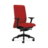 HON Nucleus Task Chair | Upholstered Back | Synchro-Tilt, Seat Glide | Adjustable Arms | Tomato Fabric