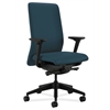 HON Nucleus Task Chair | Upholstered Back | Synchro-Tilt, Seat Glide | Adjustable Arms | Cerulean Fabric