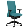 HON Nucleus Task Chair | Upholstered Back | Synchro-Tilt, Seat Glide | Adjustable Arms | Glacier Fabric