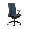 HON Nucleus Task Chair | Upholstered Back | Synchro-Tilt, Seat Glide | Adjustable Arms | Jet Fabric