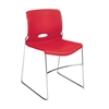 HON Olson High-Density Stacking Chair | Cherry Shell