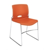 HON Olson High-Density Stacking Chair | Tangelo Shell