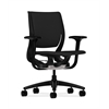 HON Purpose Mid-Back Chair | YouFit Flex Motion | Adjustable Arms | Onyx Shell | Black Base | Black Fabric
