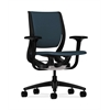 Purpose Mid-Back Chair | YouFit Flex Motion | Adjustable Arms | Onyx Shell | Black Base | Cerulean Fabric