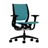HON Purpose Mid-Back Chair | YouFit Flex Motion | Adjustable Arms | Onyx Shell | Black Base | Glacier Fabric