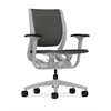 HON Purpose Mid-Back Chair | YouFit Flex Motion | Adjustable Arms | Platinum Shell | Platinum Base | Iron Ore Fabric