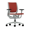 HON Purpose Mid-Back Chair | YouFit Flex Motion | Adjustable Arms | Platinum Shell | Platinum Base | Poppy Fabric