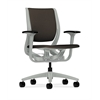 HON Purpose Mid-Back Chair | YouFit Flex Motion | Adjustable Arms | Platinum Shell | Platinum Base | Espresso Fabric