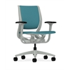 HON Purpose Mid-Back Chair | YouFit Flex Motion | Adjustable Arms | Platinum Shell | Platinum Base | Glacier Fabric