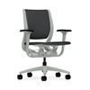 HON Purpose Mid-Back Chair | YouFit Flex Motion | Adjustable Arms | Platinum Shell | Platinum Base | Carbon Fabric