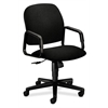 Solutions Seating High-Back Chair | Center-Tilt | Fixed Arms | Black Fabric