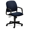 HON Solutions Seating High-Back Chair | Center-Tilt | Fixed Arms | Blue Fabric