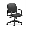 HON Solutions Seating High-Back Chair | Center-Tilt | Fixed Arms | Iron Ore Fabric