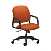 HON Solutions Seating High-Back Chair | Center-Tilt | Fixed Arms | Tangerine Fabric