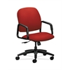 HON Solutions Seating High-Back Chair | Center-Tilt | Fixed Arms | Tomato Fabric