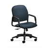 HON Solutions Seating High-Back Chair | Center-Tilt | Fixed Arms | Jet Fabric