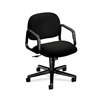 Solutions Seating Mid-Back Chair | Center-Tilt | Fixed Arms | Black Fabric