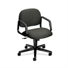 HON Solutions Seating Mid-Back Chair | Center-Tilt | Fixed Arms | Gray Fabric