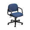 Solutions Seating Mid-Back Chair | Center-Tilt | Fixed Arms | Blue Fabric