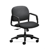 HON Solutions Seating Mid-Back Chair | Center-Tilt | Fixed Arms | Charcoal Fabric