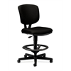 Volt Task Stool | Extended Height, Footring | Black Fabric