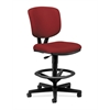 Volt Task Stool | Extended Height, Footring | Crimson Fabric