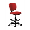 HON Volt Task Stool   Extended Height, Footring   Tomato Fabric