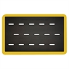 Smart Step Anti-fatigue Mat Supreme Pro  Yellow Safety Border 3x2 Black