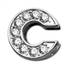 "Mirage Pet Products 3/8"" Clear Bling Letter Sliding Charms C ."