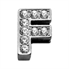 "Mirage Pet Products 3/8"" Clear Bling Letter Sliding Charms F ."