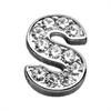 "Mirage Pet Products 3/8"" Clear Bling Letter Sliding Charms S ."