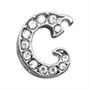 "Mirage Pet Products 3/8"" Clear Script Letter Sliding Charms C ."