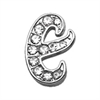 "Mirage Pet Products 3/8"" Clear Script Letter Sliding Charms E ."