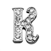 "Mirage Pet Products 3/8"" Clear Script Letter Sliding Charms K ."