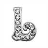 "Mirage Pet Products 3/8"" Clear Script Letter Sliding Charms L ."