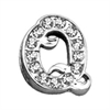 "Mirage Pet Products 3/8"" Clear Script Letter Sliding Charms Q ."