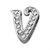 "Mirage Pet Products 3/8"" Clear Script Letter Sliding Charms V ."