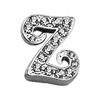 "Mirage Pet Products 3/8"" Clear Script Letter Sliding Charms Z ."