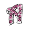 "Mirage Pet Products 3/8"" Pink Script Letter Sliding Charms A ."