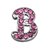 "Mirage Pet Products 3/8"" Pink Script Letter Sliding Charms B ."