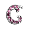 "Mirage Pet Products 3/8"" Pink Script Letter Sliding Charms C ."